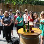 A group pic from 2003, the first year of the Grape Grazing Winery BIke Tour