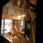 Interesting decor..paper aeroplanes