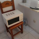 Microwave on a chair !