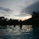 Sunset over the Papaya pool