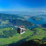 Mt. Stanserhorn Cabrioo - open top aerial cable car
