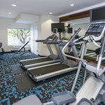 The on-site fitness center at the Fairfield Inn & Suites Chicago Naperville/Aurora