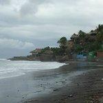 Looking west up the beach towards Kayu