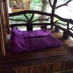 La terrasse privée propice à la méditation