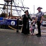 At Brixham Pirate Festival
