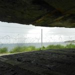 Inside Bunker  View of the Beach