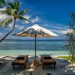 View of the lounge and ocean from Wakatobi's bungalow deck