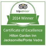 TripAdvisor's 2014 Certificate of Excellence Award