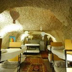 9 bunk beds in cave
