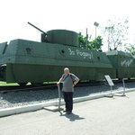 Me and an armoured train.