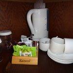 Tea area inside the room