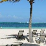 Bela praia do hotel