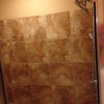 Awesome shower with bench