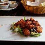 Taster menu starter - spicy chicken