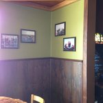 Local patrons highlighted on the walls!