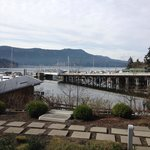 Patio View - you can see the bay.  There is a BC Ferry terminal there but you hardly notice it.