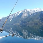 March fishing on Anderson Lake with Pemberton Fish Finder