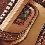 "The ""vertigo stairs"" 16-story winding oval staircase."