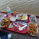 Gator nuggets and stone crab claws