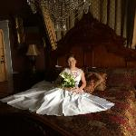 Bridal photo on Klein Suite Bed