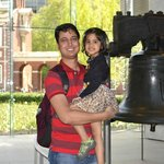 With my daughter at Liberty Bell