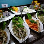 Some dishes from the salads buffet
