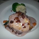 stuffed chicken breast with raspberry cream sauce