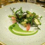 starter . tastebud delight , asparagus .
