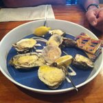 Baked Parmesan butter oysters. Oh my goodness GOOD!