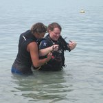 Great staff with my sister on her discover dive