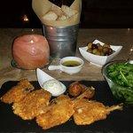 Costeletas de frango com três queijos