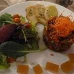 Selten zu bekommen: Cochayuyu-Salat (große Meeresalgen)