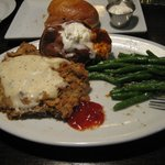 Chicken Fried steak with green beans and sweet potato