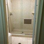 Shared shower. Always clean.