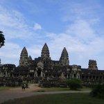 Vista posterior del templo de Ankgor Wat