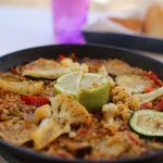 Paella with vegetables