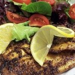 Blackened grouper, a favorite of many