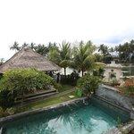 Rama Shinta Hotel - Padang Bai - Bali - Indonesia - Wandervibes - view of ocean & pool from room