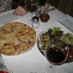 flat bread served with the antipasto