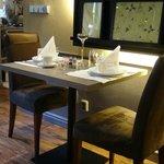 Capricho na arrumação das mesas