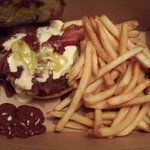 That Smoke burger that I ordered to go along side the fries. Definitely $11 well spent on a beau