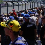 Crowds on Sunday Moto GP