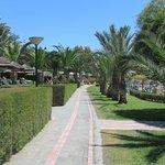 Promenade outside the hotel