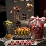 Candy/chocolate cart. Yummy