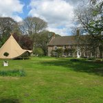 Large lawn for hire for weddings & parties.