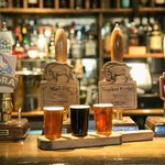 The Wild Boar Bar with real ales brewed in house