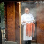Onsite smokehouse for the restaurant