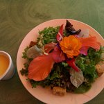 Organic Salad with Edible Flowers