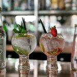 Extensive Gin & Tonic menu in the bar