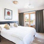 Master bedroom in our villa